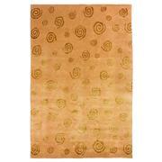 Sale 8890C - Lot 65 - Nepalese Repeating Swirls Carpet in Tonal Gold, 200x300cm, Tibetan Highland Wool & Silk