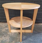 Sale 8979 - Lot 1036 - Timber Two Tier Side Table (H:60 D:60cm)