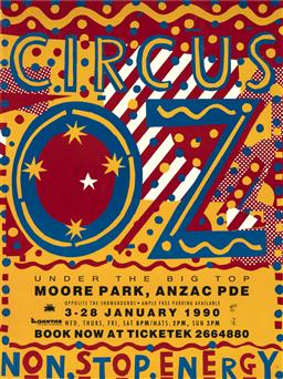 Sale 9157S - Lot 5018 - MARTIN SHARP (1942 - 2013) Circus OZ: Under the Big Top, 1990 screenprint (unframed) 91 x 68.5 cm .