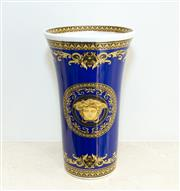 Sale 8338A - Lot 17 - A Rosenthal Versace trumpet shape vase, bears lot sticker for Phillip Caldwell Auctions, H 26.5cm