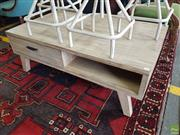 Sale 8601 - Lot 1277 - Low Lying Coffee Table with Two Drawers (H: 43 W: 120 D: 70cm)