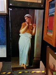 Sale 8631 - Lot 2043 - Artist Unknown - The Sky Maiden, Oil on Canvas, unframed