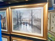 Sale 8640 - Lot 2052 - Artist Unknown - Homeward (Winterscape) 70 x 90 (frame size)