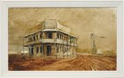 Sale 8730 - Lot 2075 - Kevin Oxley (1941 - ) - Outback Hotel, 1970 37 x 62.5cm