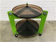 Sale 9092 - Lot 1017 - Kartell style sidetable on castors (h63 x d68cm)
