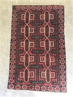 Sale 9137 - Lot 1014 - Hand knotted pure wool Persian Baluchi (136 x 84cm)