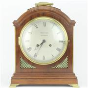 Sale 8356 - Lot 71 - Maples London Edwardian Walnut Bracket Clock