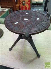 Sale 8424 - Lot 1033 - Carved African Side Table