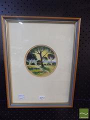 Sale 8483 - Lot 2092 - Framed Unknown Artist Landscape, signed