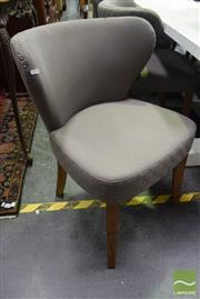 Sale 8523 - Lot 1033 - Set of 8 Upholstered Wing Back Dining Chairs