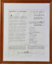 Sale 8994W - Lot 636 - Framed Print Instrument Of Surrender Of Japanese Soldiers (55cm x 45cm)