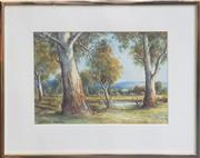 Sale 9053 - Lot 2020 - Arnold Jarvis, Country landscape, watercolour, 32 x 41 cm (frame),, signed lower left
