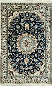 Sale 8390C - Lot 72 - Persian Nain Silk & Wool 184cm x 113cm