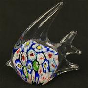 Sale 8402D - Lot 24 - Murano Millefiori Art Glass Figure of a Fish (Height - 11.4cm)