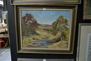 Sale 8441T - Lot 2033 - Olive McAleer (1980s - 1990s) - Picton Landscape 39 x 49cm