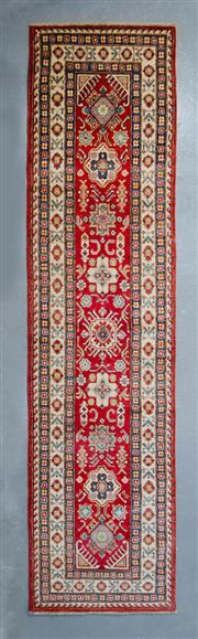 Sale 8472C - Lot 11 - Afghan Kazak 325cm x 75cm