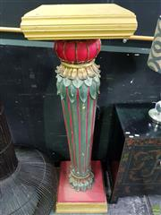 Sale 8570 - Lot 1005 - Oversized Painted Pedestal (150 x 41 x 41cm)