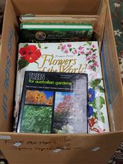 Sale 8822B - Lot 876 - Box of Gardening Books incl. Hadlington, P. & Staunton Trees for Australian Gardens; Macoboy, S. What Flower is That; Perry F. ...