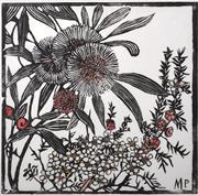 Sale 9072A - Lot 5073 - Margaret Preston (1875 - 1963) - Tea Tree and Hakea Petiolaris 48 x 48 cm (frame: 83 x 83 cm)