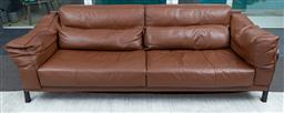 Sale 9150H - Lot 59 - A Ligne Roset brown leather three seater, Height 68cm x Length 240cm x Depth 100cm