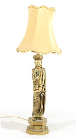 Sale 9156 - Lot 67 - A composite Chinese elder form lamp (H:86cm)