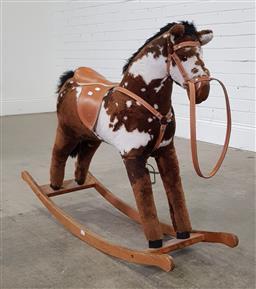 Sale 9191 - Lot 1057 - Timber rocking horse (h:80cm)
