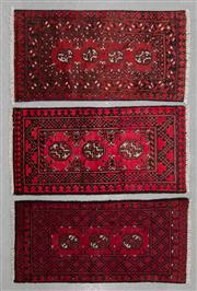 Sale 8480C - Lot 35 - 3 x Afghan Turkman 100cm x 50cm