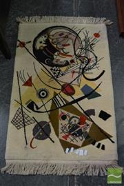 Sale 8489 - Lot 1023 - Hand Made Turkish Wool Carpet, Kandinsky Design (85 x 58cm)