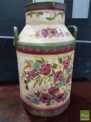 Sale 8554 - Lot 1009 - Hand Painted Milk Urn
