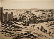 Sale 8642A - Lot 5071 - Lionel Lindsay (1874 - 1961) - Avila 22.5 x 31.5cm