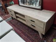 Sale 8601 - Lot 1506 - Whitewash Timber Sideboard with Four Drawers (H: 56 W: 165 D: 45cm)