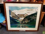 Sale 8631 - Lot 2098 - Artwork - Lake Louise In The Rockies Promotion