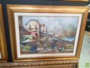 Sale 8640 - Lot 2053 - G De Simone - Italian Market scene 70 x 90cm (frame size)