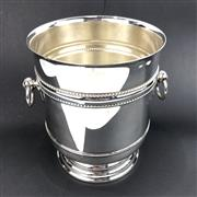 Sale 8699A - Lot 727 - Christofle Silver Plated Champagne Bucket with handles and bag, height 23cm