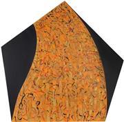 Sale 8870 - Lot 2064 - Carol Dance - Fire 113 x 14cm (at widest)