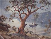 Sale 9038 - Lot 598 - Brian Baigent (1929 - ) - Yachts on the River 55 x 70 cm (frame: 82 x 98 x 5 cm)
