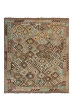 Sale 9124C - Lot 8 - Afghan Maymana Kilim, 190x220cm, Handspun Wool