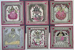 Sale 9142A - Lot 5048 - INDIAN SCHOOL - Designs 19 x 19cm, each