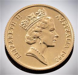 Sale 9153C - Lot 335 - PRIDE OF AUSTRALIA AUSTRALIAN TWO HUNDRED DOLLAR GOLD COIN; 1992 Echidna, 22ct gold, wt. 10.02g.