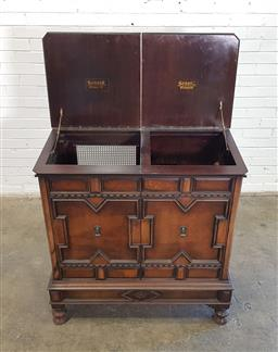 Sale 9154 - Lot 1082 - Timber gramophone cabinet (h:105 x w:102 x d:51cm)