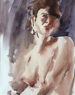 Sale 9245J - Lot 100 - Sidney Fort (Australian 1918-2005) - Nude Study