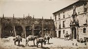Sale 8592A - Lot 5044 - Lionel Lindsay (1874 - 1961) - The Convent Huelvas 22.5 x 31.5cm