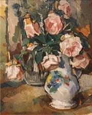 Sale 8633 - Lot 552 - Bessie Davidson (1879 - 1965) - Fleurs, 1942 39.5 x 32cm