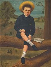 Sale 8655A - Lot 5006 - English School - Portrait of a Schoolboy, c1900 90 x 70cm