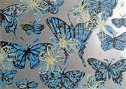 Sale 8659A - Lot 5014 - David Bromley (1960 - ) - Blue Butterflies 70.5 x 101cm