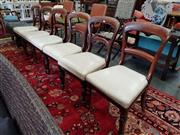 Sale 8676 - Lot 1329 - Set of Seven Victorian Dining Chairs