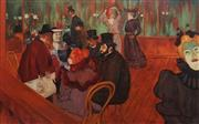 Sale 8847 - Lot 552 - DArcy W Doyle (1932 - 2001) - At the Moulin Rouge (after Toulouse Lautrec) 75 x 121cm