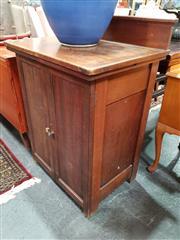 Sale 8834 - Lot 1045 - Blue Bird Sewing Machine in Cabinet