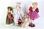 Sale 8902 - Lot 71 - Bisque Head Dolls (4)