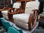 Sale 8930 - Lot 1020 - Pair of Art Deco Sunray Chairs